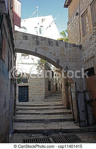 Street in The old City in Jerusalem, Israel - csp11401415