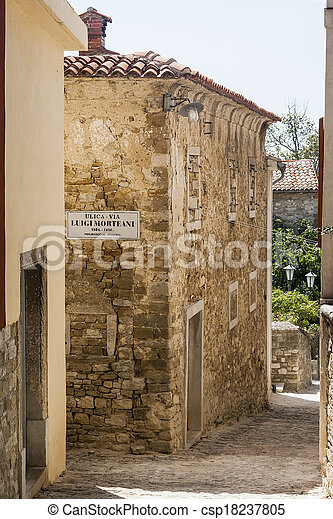 street in the town of Motovun - csp18237805