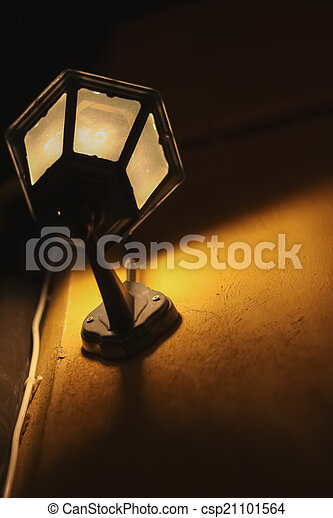 Street Lamp Attached To Wall Warm Tone - csp21101564