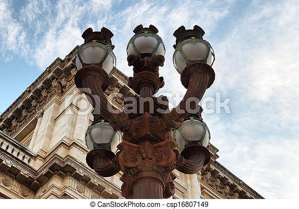 street Lamp in Rome - csp16807149