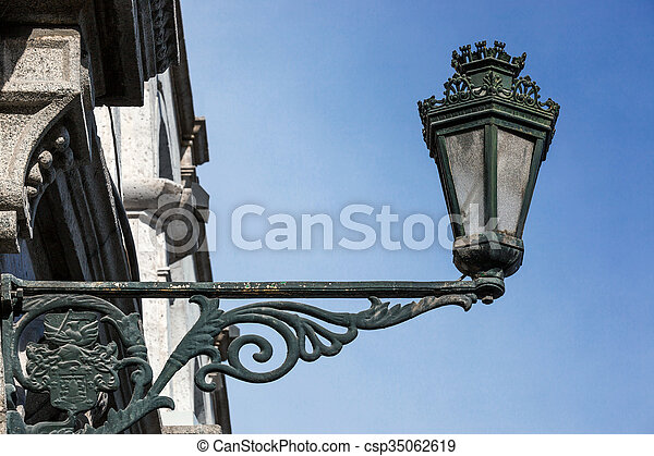 street lamp on the wall - csp35062619