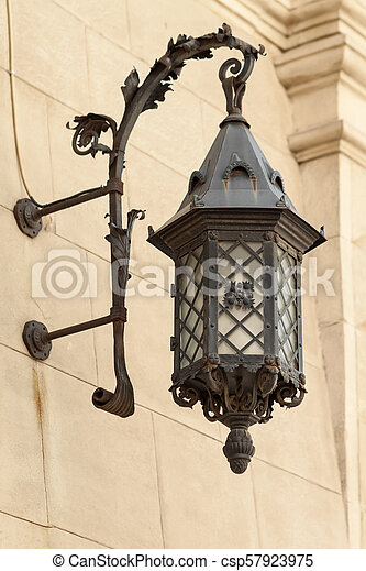 Street lamp on the wall - csp57923975