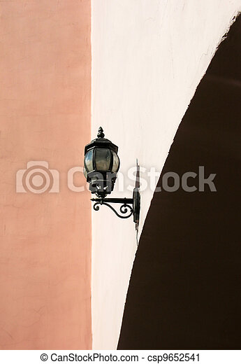 Street lamp on the wall - csp9652541