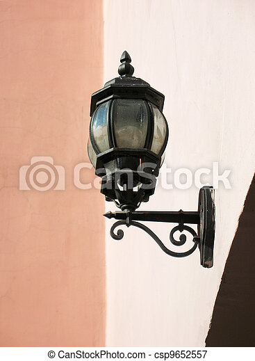 Street lamp on the wall - csp9652557