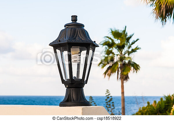 street lamp on the wall - csp18518922