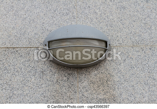 street lamp on the wall - csp43566397