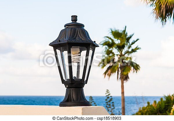 street lamp on the wall - csp18518903