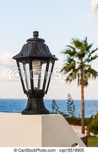 street lamp on the wall - csp18518905