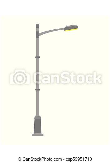 Street light isolated on white background outdoor lamp post street light isolated on white background outdoor lamp post in flat style vector illustration mozeypictures Images