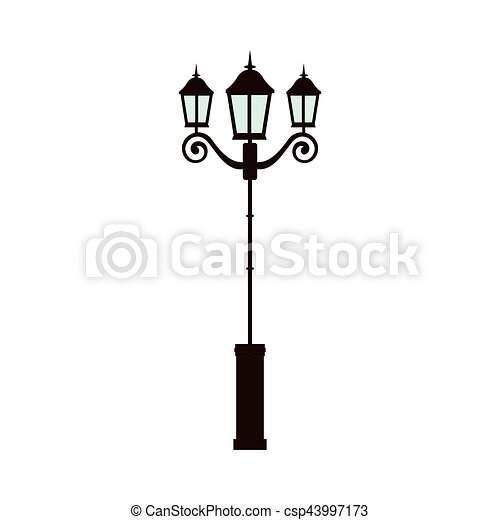 street light lamp icon vector illustration graphic design vectors rh canstockphoto com lamp vector freepik lamp vector ai