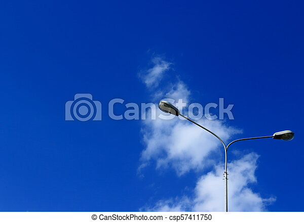 Street lights against the sky - csp57411750