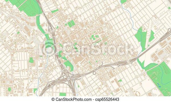 Street map of San Jose, California - csp65526443