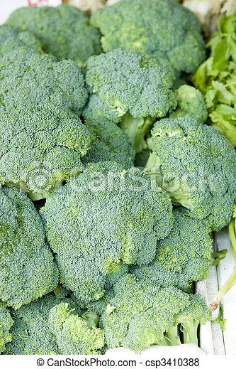 street market (broccoli), China Town, New York City, USA - csp3410388