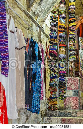 Street Market, Old Jerusalem - csp90981581