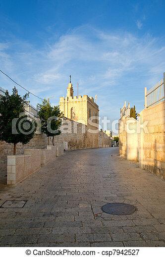 Street of Bethlehem. Palestine, Israel. - csp7942527