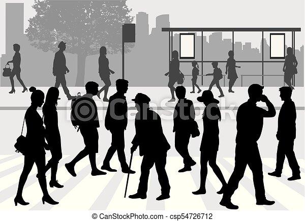 Street of the city . - csp54726712