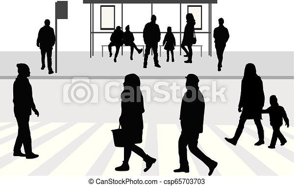 Street of the city . - csp65703703