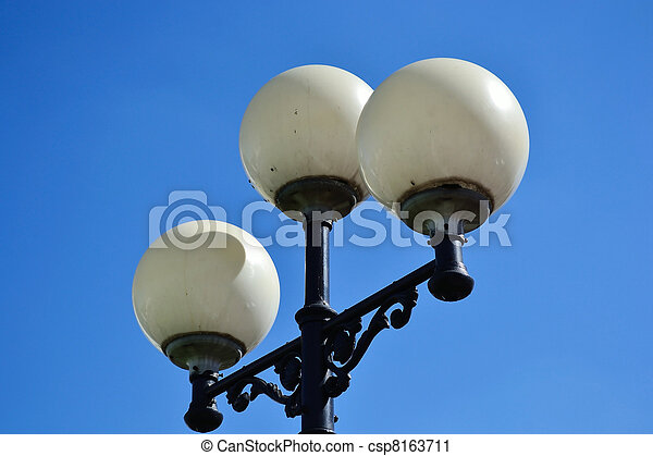 Street round lamp in the park - csp8163711