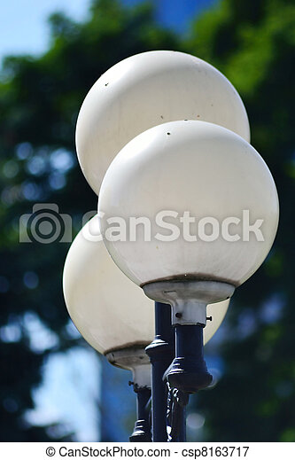 Street round lamp in the park - csp8163717