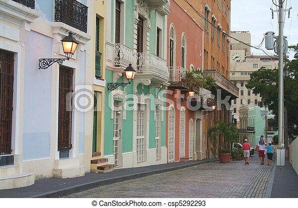 Street Scene in Old San Juan - csp5292293