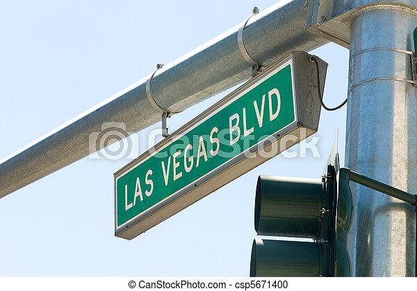 Las Vegas Blvd Street Sign