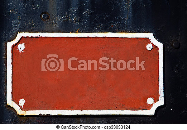Street sign on a brick wall - csp33033124