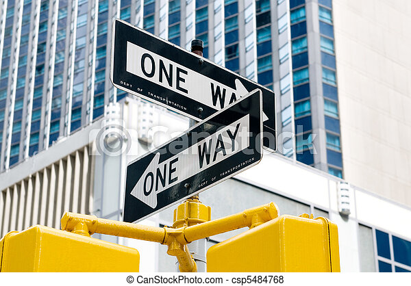 Street sign on the bright day - csp5484768