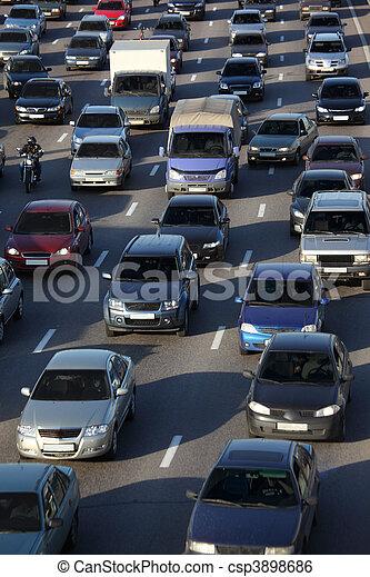 street traffic - csp3898686