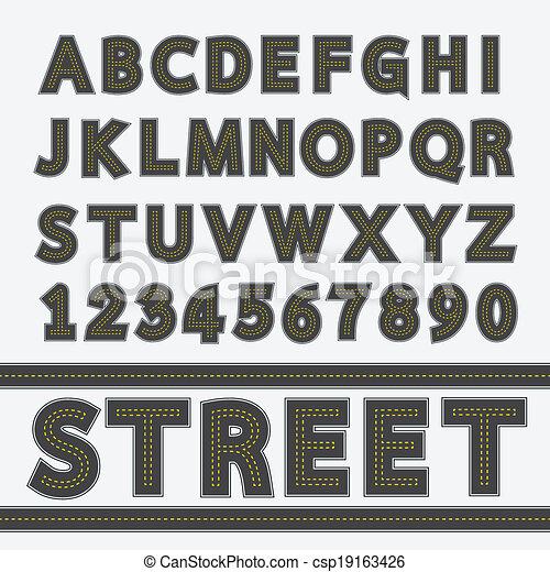Street type font - csp19163426