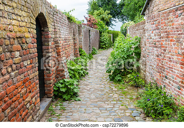 street view in the historic small town of Veere, Netherlands - csp72279896