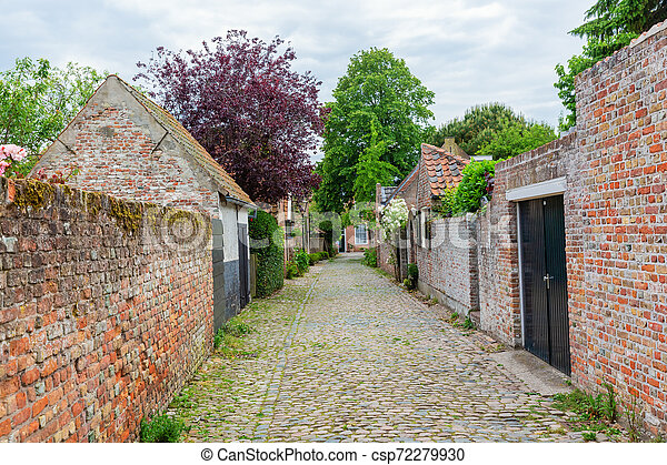 street view in the historic small town of Veere, Netherlands - csp72279930