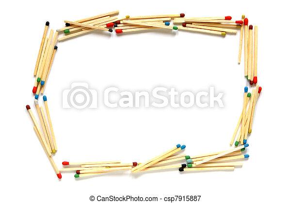 Rahmen aus Streichhölzern - csp7915887