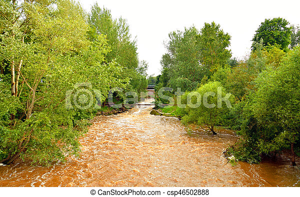 Strelka River at summer. - csp46502888