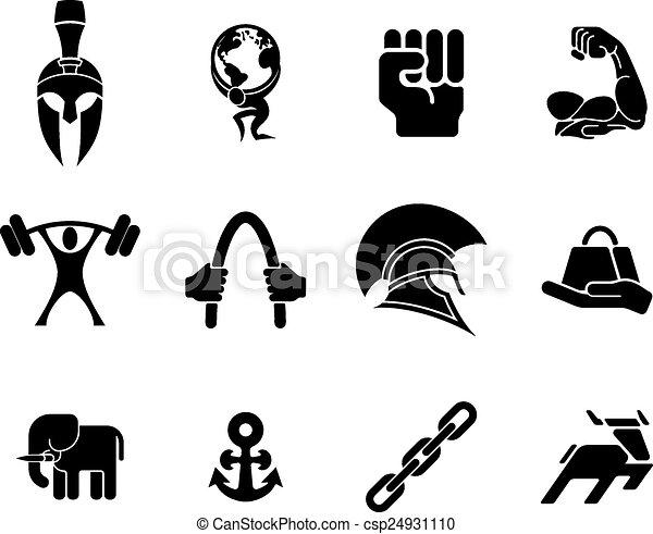 Strength icons - csp24931110