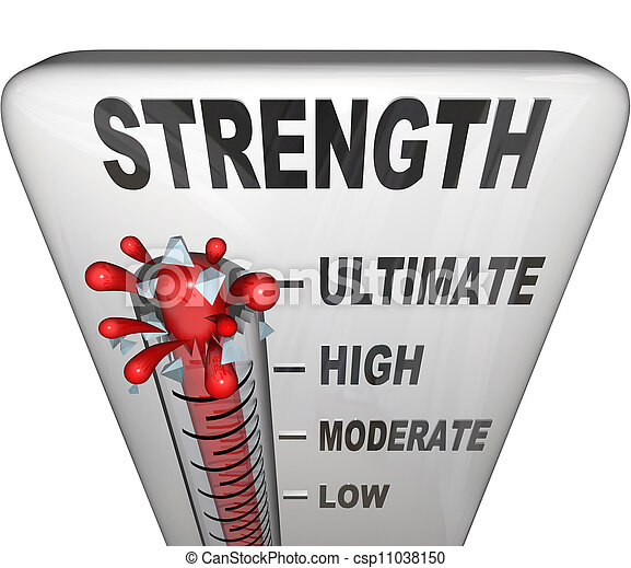 Strength Level Measured on Thermometer Ultimate Strong - csp11038150
