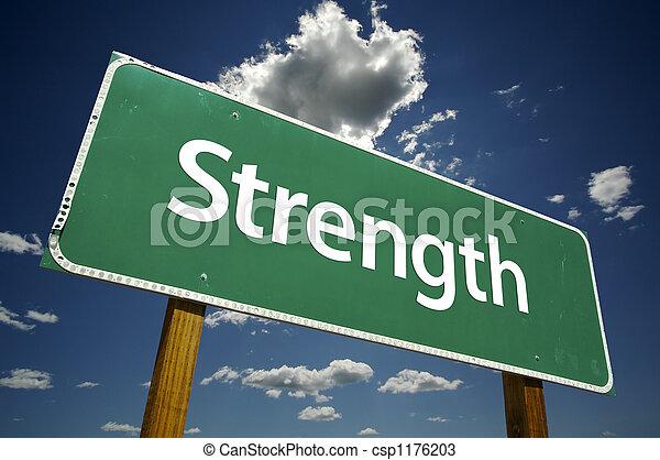 Strength Road Sign - csp1176203
