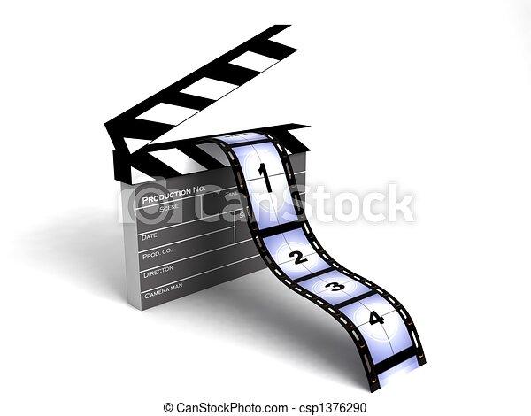 strepen, film - csp1376290