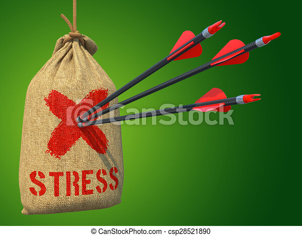 Stress - Arrows Hit in Red Target. - csp28521890