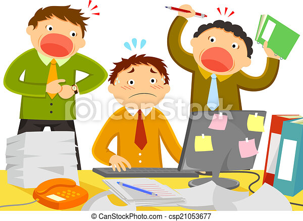 stress at work - csp21053677