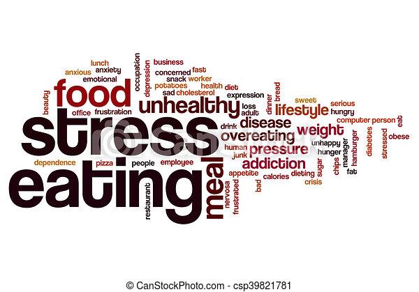 Stress Eating Word Cloud Stock Illustration