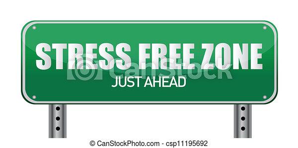 Stress free Zone just ahead - csp11195692