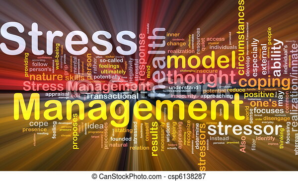 Stress management background concept glowing - csp6138287