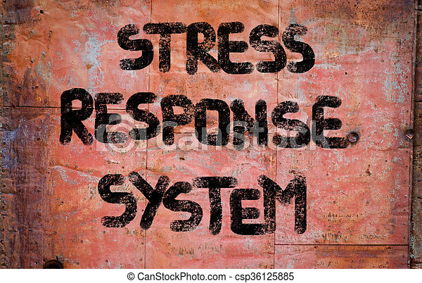 Stress Response System Concept - csp36125885