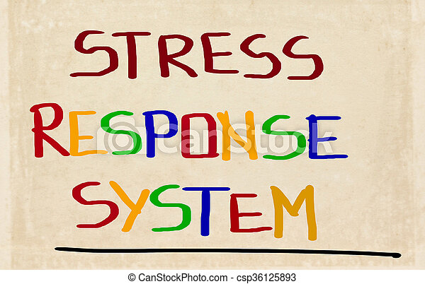 Stress Response System Concept - csp36125893