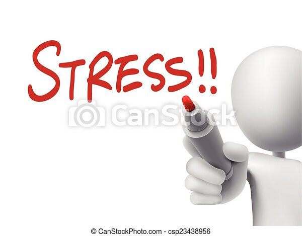 stress word written by 3d man - csp23438956