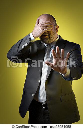 Stressed business man - csp23951058