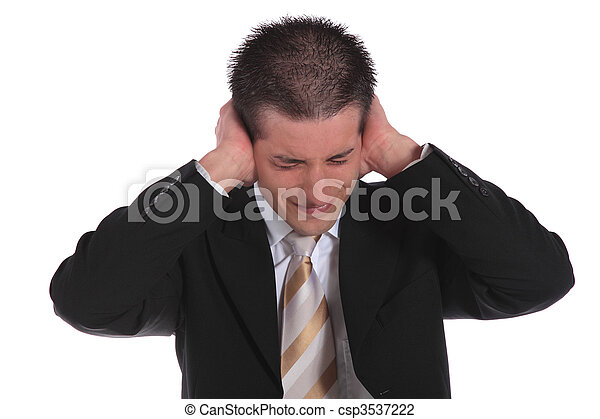 Stressed businessman - csp3537222