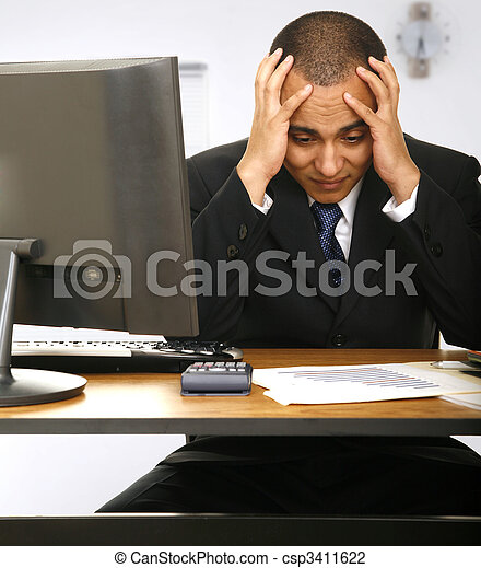 Stressed Out Employee - csp3411622