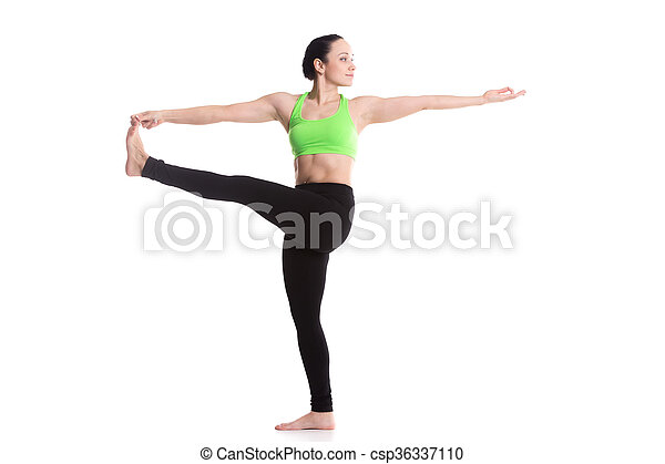 stretched hand grasps big toe yoga asana serene sporty