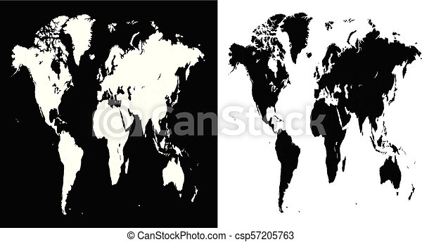 Stretched vector world map illustration isolated over white and stretched vector world map illustration isolated over white and black background gumiabroncs Image collections